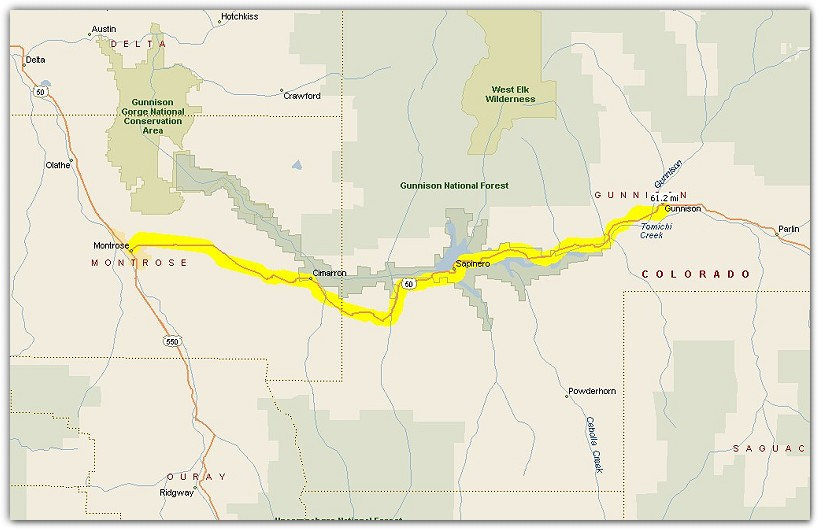 Riding Maps Routes - Colorado highways map